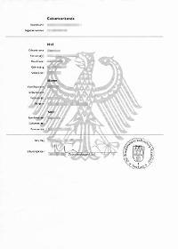 Deutsche Geburtsurkunde übersetzt und beglaubigt