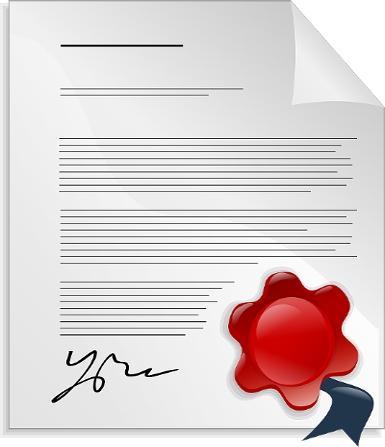 Abiturzeugnis in beglaubigter Übersetzung, ausgefertigt auf Papier: unterschrieben und gestempelt